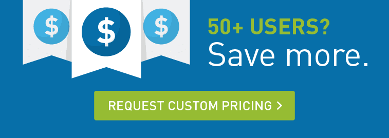 Intermedia offers custom pricing for 50+ users