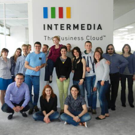 intermedia's St. Petersburg office -- the team