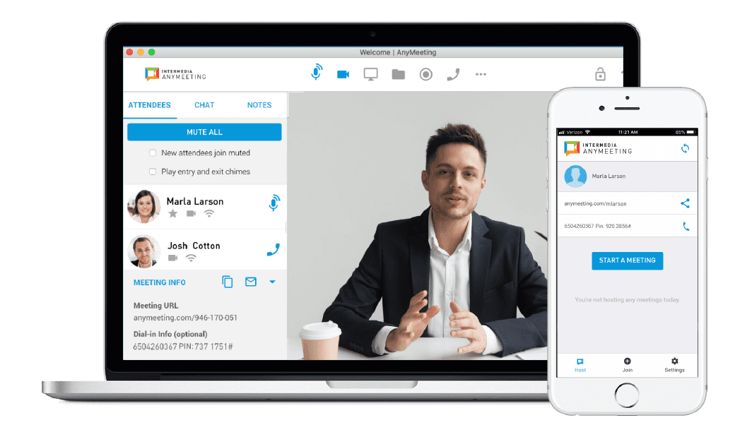 Intermedia AnyMeeting Video Conferencing Features