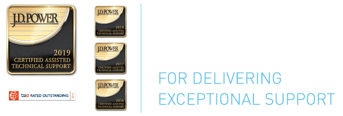 J.D. Power and TSIA certify our Worry-Free Experience