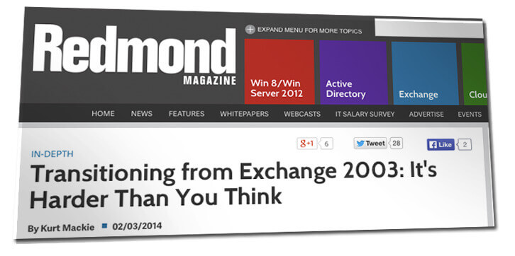 exchange 2003: another end-of-life perspective