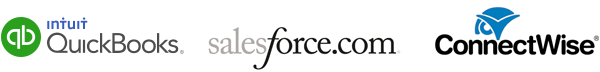for MSPs and VARs: salesforce, connectwise, and quickbooks integrations
