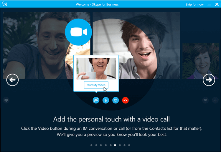 skype for business video calling