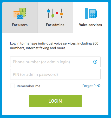 intermedia voice login