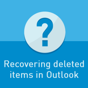 View post: It's not the end of the world: Recovering deleted items in Outlook