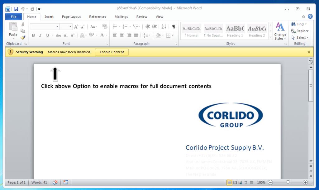example document macros