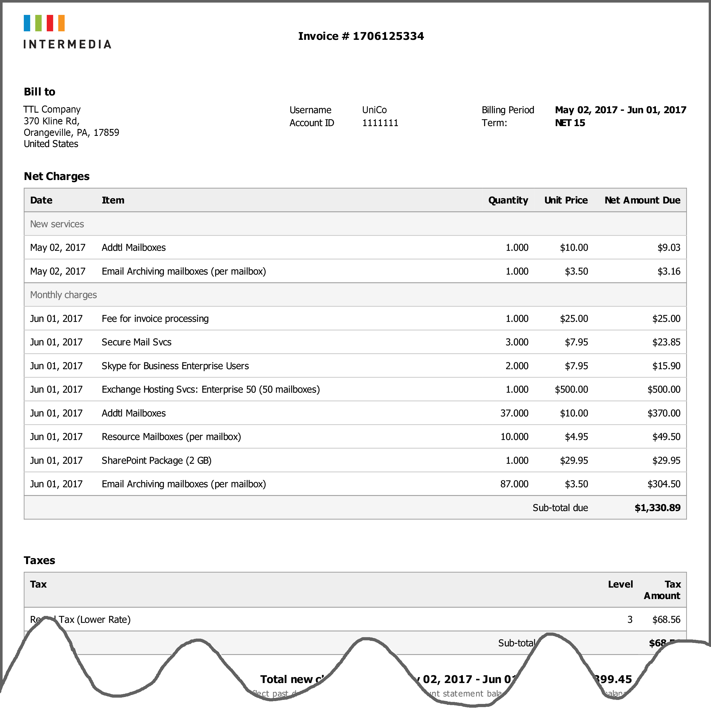 Customer Invoice (click To Enlarge Image)  New Invoice